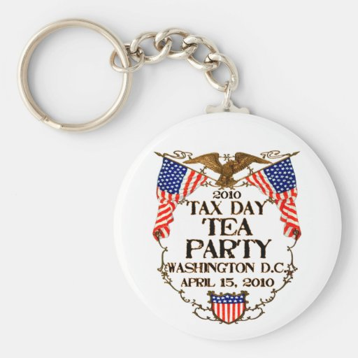 2010 Tax Day Tea Party Key Chain