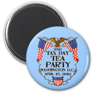 2010 Tax Day Tea Party 6 Cm Round Magnet