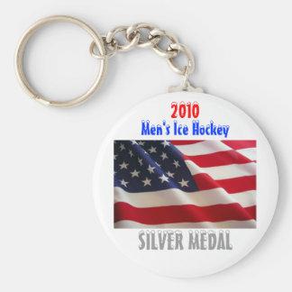 2010 USA Men's Ice Hockey - Silver Medal Key Ring