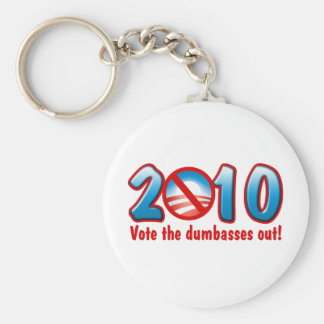 2010 Vote the Dumbasses Out (Anti Obama) Basic Round Button Key Ring