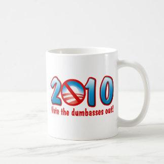 2010 Vote the Dumbasses Out (Anti Obama) Basic White Mug