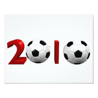 2010 World Cup 11 Cm X 14 Cm Invitation Card