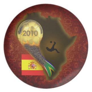 2010 World Soccer Championship Dinner Plates