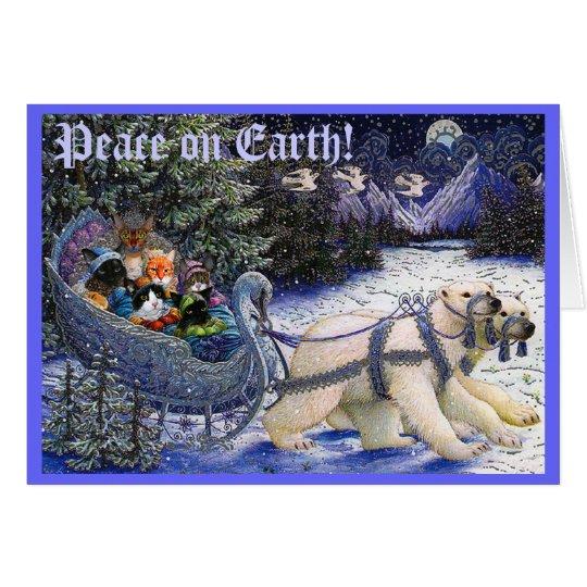 2010XMASCatCard, Peace on Earth! Card