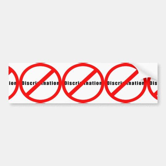 20110 NO DISCRIMINATION EQUALITY INTERRACIAL RELAT BUMPER STICKER
