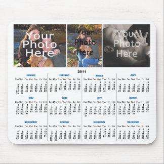 2011 Calendar Custom Photo Mousepad - Add 3 Photos