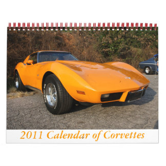 2011 Calendar of Corvettes