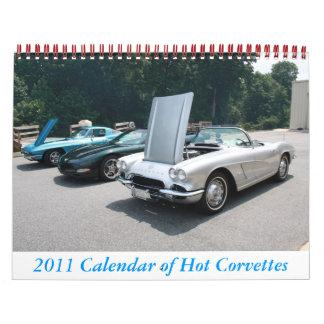 2011 Calendar of Hot Corvettes