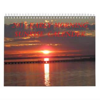 2011 CALENDER  OF SUNRISE PICTURES WALL CALENDAR