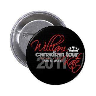 2011 Canadian Tour - William & Kate Wedding 6 Cm Round Badge