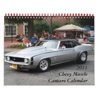 2011 Chevy Muscle Camaro Calendar