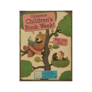 2011 Children's Book Week Wood Poster