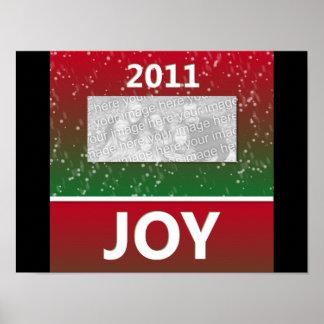 2011 Christmas Joy Snow Personalized Photo Print
