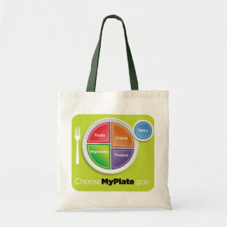 2011 Food Pyramid Choose My Plate grocery bag