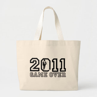 2011 Game over Tote Bag