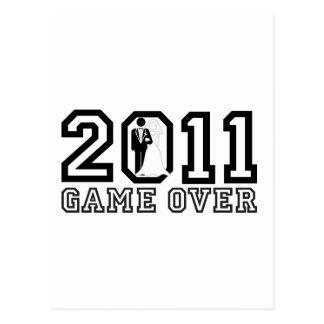 2011 Game over Postcard