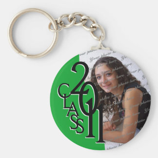 2011 Graduation Keepsake Basic Round Button Key Ring