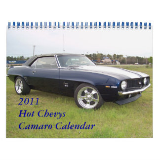 2011 Hot  Chevys Camaro Calendar