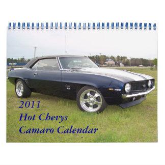 2011 Hot  Chevys Camaro Calendar