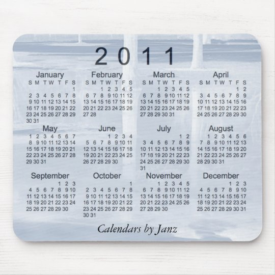 2011 Landscape Calendar Mouse Pad