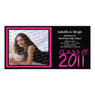 2011 Neon Pink Photo Card