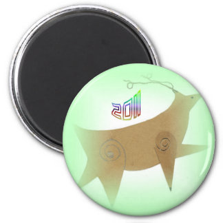 2011 OR ADD YOUR TOUCH 6 CM ROUND MAGNET