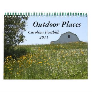 2011 Outdoor Places: Carolina Foothills Calendar