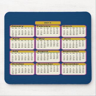 2011 Pink Borders Calendar Mousepad