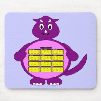 2011 Purple Dinosaur Calendar Mousepad