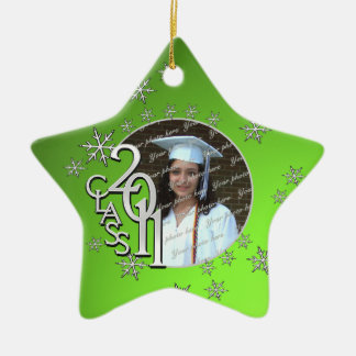 2011 Star Graduate Photo Christmas Ornament