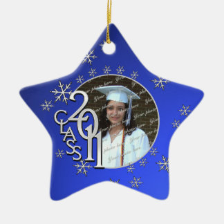 2011 Star Graduate Photo Christmas Tree Ornaments