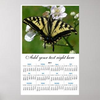 2011  Western SwallowTail Butterfly wall Calendar Poster