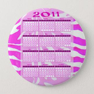 2011 Year at a Glance Calendar 10 Cm Round Badge