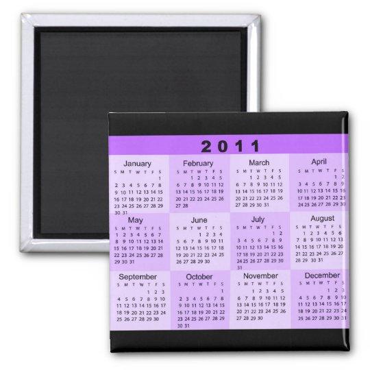 2011 Year at a Glance Calendar Magnet