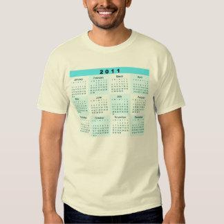 2011 Year at a Glance Calendar Shirts