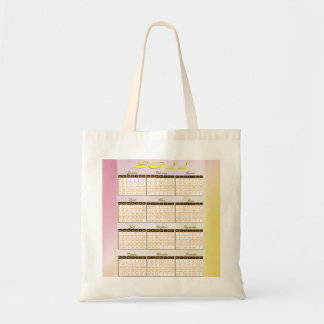 2011 Year at a Glance Calendar Budget Tote Bag