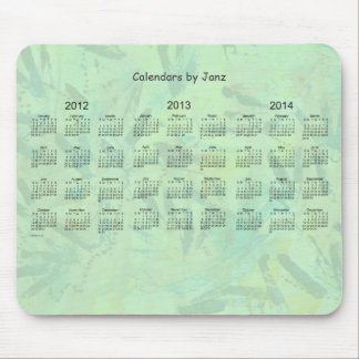 2012 - 2014 3 Year Calendar Mouse Pad