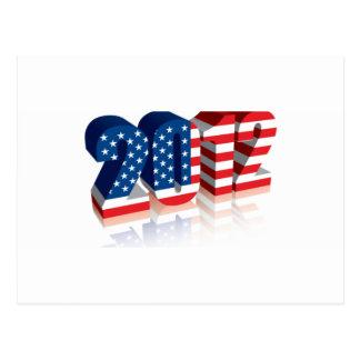 2012 American Flag Postcard