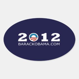 2012 Barack Obama Re-election Design Oval Sticker