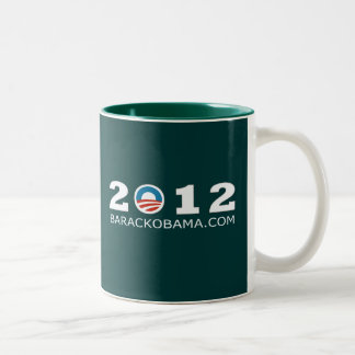 2012 Barack Obama Re-election Design Two-Tone Coffee Mug