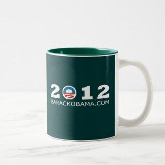2012 Barack Obama Re-election Design Two-Tone Mug