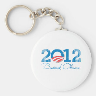 2012 - Barack Obama - Vintage.png Key Ring