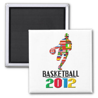 2012: Basketball Square Magnet