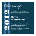 2012 Blue and White Graduation Change to Any Year 13 Cm X 13 Cm Square Invitation Card