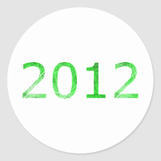2012 by Aeralas Round Stickers