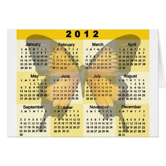 2012 Calendar Butterfly print Card