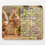 2012 Calendar - Cute Chipmunk Mousepad