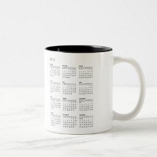 2012 calendar mug