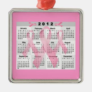 2012 CALENDAR PINK RIBBONS BREAST CANCER AWARENESS ORNAMENT