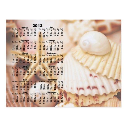 2012 Calendar - Seashell Postcard